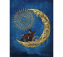 Moon Travel (Blue) Photographic Print