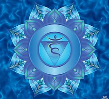 Throat Chakra with sky blue flare BG by GypsyOwlProduct