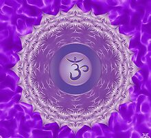 Crown Chakra with violet flare BG by GypsyOwlProduct