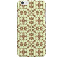 Brown, Green and White Abstract Design iPhone Case/Skin
