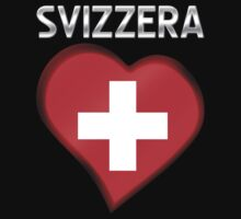 Svizzera - Swiss Flag Heart & Text - Metallic by graphix