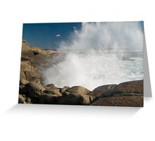Peggys Cove Crashing Waves Greeting Card