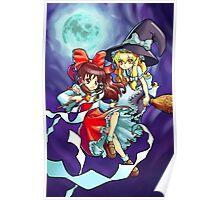 Touhou - Reimu and Marisa Poster