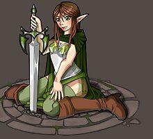 - Elven Sword Lady - by Neffy