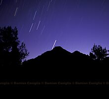 Startrails over Mt Barney, Australia by damiancaniglia