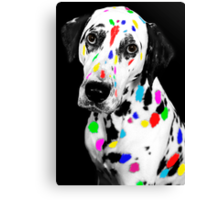 Multi-coloured Dalmatian Canvas Print