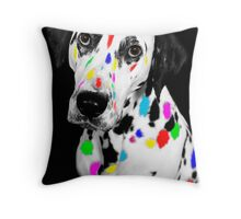 Multi-coloured Dalmatian Throw Pillow