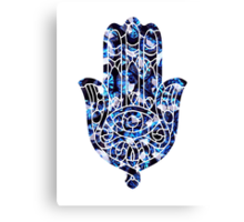 Diamond Hamsa Canvas Print