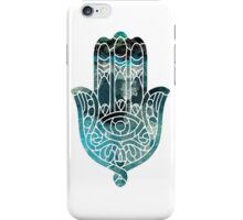 Blue Geo Hamsa iPhone Case/Skin