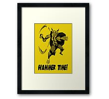 The Mighty Thor - Hammer Time! Framed Print