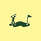Golf SWING man swinging a golf club by jazzydevil