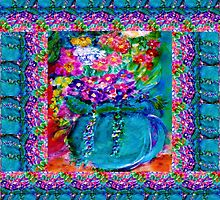 Summer Day Flowers Artist Designed Gifts by Marie-Jose Pappas by innocentorigina