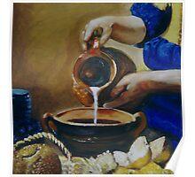 Milkmaid inspired by Vermeer Poster