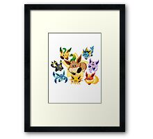 Eevee kirby pokémon Framed Print