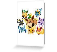 Eevee kirby pokémon Greeting Card
