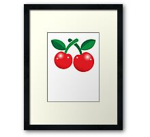 Super cute red cherries  Framed Print