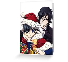 holiday black butler Greeting Card