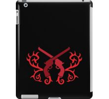 Red pistol guns with thorns iPad Case/Skin