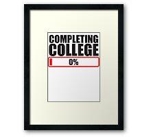 Completing College 0 per cent % progress bar Framed Print