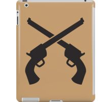 Gunslinger Guns crossed iPad Case/Skin