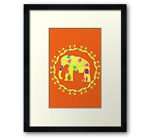 Watercolor elephant #70 Framed Print