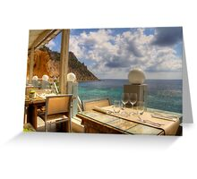 Dining in Paradise Greeting Card