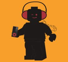 Minifig with Headphones & iPod by ChilleeW