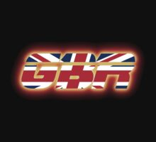 GBR - Great Britain - Flag Logo - Glowing by graphix