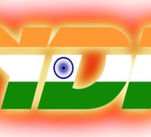India - Indian Flag Logo - Glowing Sticker