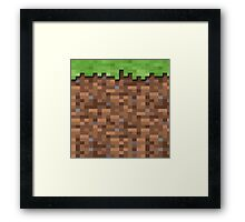 Minecraft Grass Block Merch Framed Print