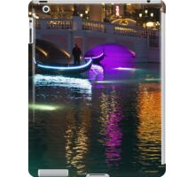 It's Not Venice - Bright Lights, Glamorous Gondolas and the Magic of Las Vegas at Night iPad Case/Skin