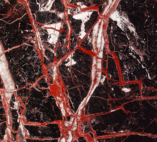 Black and red marble iphone case Sticker