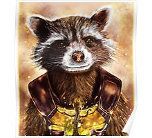 Rocket Raccoon and baby Groot Poster