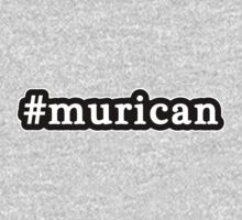 Murican - Hashtag - Black & White Kids Clothes