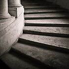 Curved Stone Steps, Rome, Italy by Caimin Jones