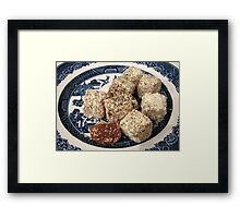 Pistachio and Coconut Turkish Delight Framed Print