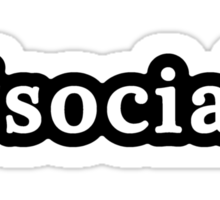 Social - Hashtag - Black & White Sticker