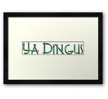 YA DINGUS Neon Jungle Variant Dr. Steve Brule Design by SmashBam Framed Print