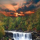Cumberalnd Falls in Fall by pinkarmy25