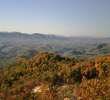 Autumn Colors Along Smoky Mountain Foothills Parkway by shotzbyjay