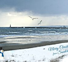 The North Sea with Snow by Morag Bates