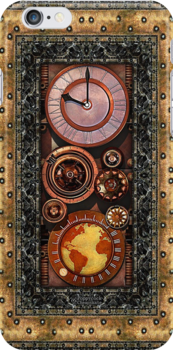 Elegant Steampunk Timepiece phone cases by Steve Crompton