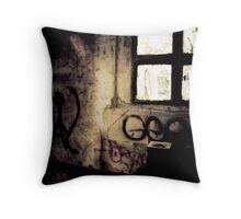 Graffitti Window Throw Pillow