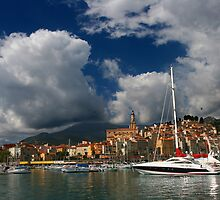 Menton Harbour by Christophe Testi