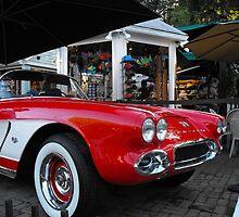 Key West Vintage 1960 Chrysler red car by SlavicaB