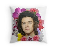 Harry Styles - Floral Throw Pillow