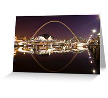 River Tyne at Night Greeting Card