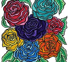 A Rose by Any Other Name - Oil Pastels on Watercolor Paper by morningcoffee
