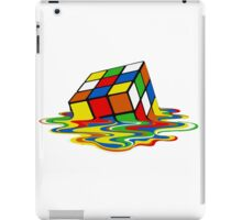 Melting Rubics Cube Geek iPad Case/Skin