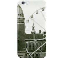 Clouds and roofs and Ferris wheel iPhone Case/Skin